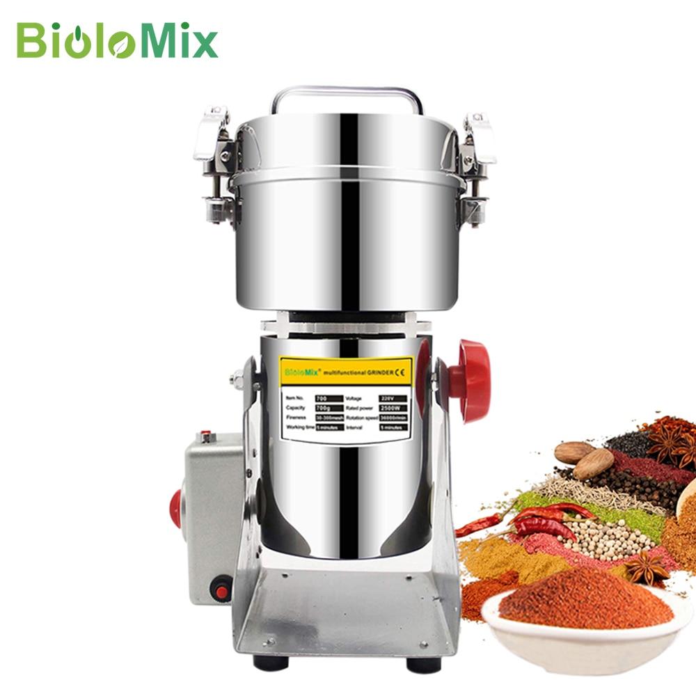 BioloMix 800 جرام 700 جرام الحبوب التوابل يشفي الحبوب القهوة مطحنة الطعام الجاف مطحنة ماكينة الطحن Gristmill الدقيق مسحوق كسارة