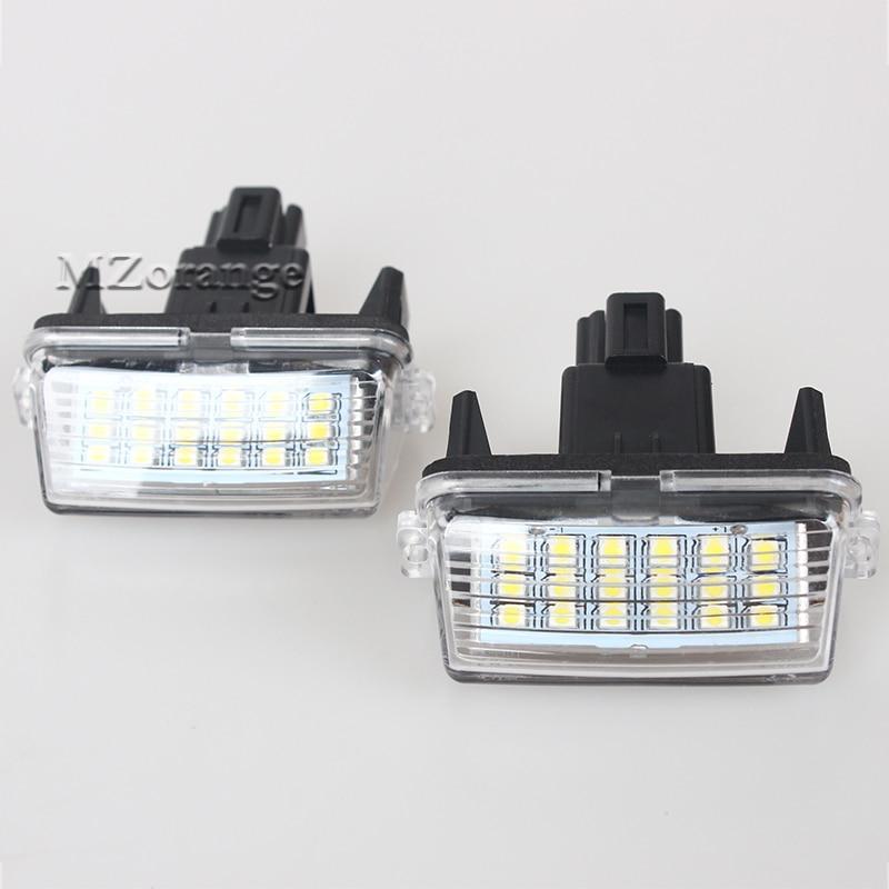 MIZIAUTO 2 шт. Автомобильный светодиодный светильник номерного знака для Toyota Camry Yaris Corolla Avensis для Peugeot Citroen 206 207 306 307