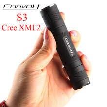 Convoy S3 Cree XML2 светодиодный лагерный фонарик Lanterna S2 + Plus Mini Linterna светодиодный 18650 вспышка Тактический Ручной фонарь