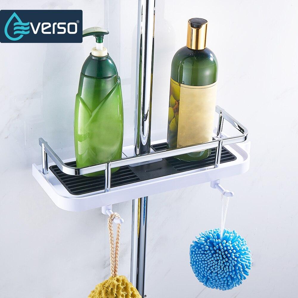 Полка для ванной EVERSO, держатель для душа, шампунь, банное полотенце, поднос для дома, полки для ванной, одноуровневый держатель для душа