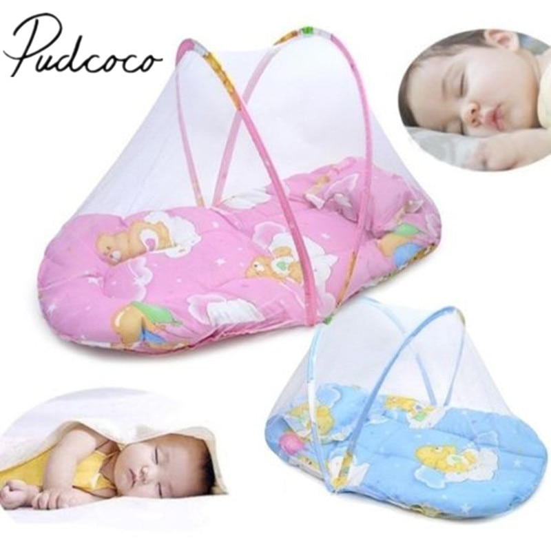 baby crib netting baby bed mosquito nets mattress pillow portable mosquito net tent crib sleeping cushion collapsible for kids Portable Foldable Kids Baby Mosquito net Infant Bed Dot Zipper Crib Netting Tent Crib Sleeping Cushion collapsible portable