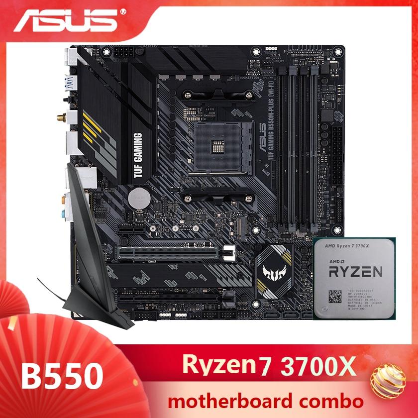 ASUS TUF GAMING B550M-PLUS WI-FI Motherboard combo kit set Ryzen 7 3700X AM4 CPU DDR4 B550
