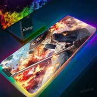 rgb large gaming mouse pad oversize glowing led extended mousepad non slip rubber base computer keyboard pad mat for bears pc xl