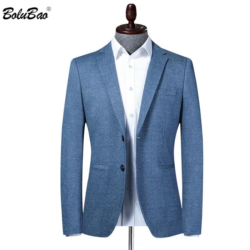 بلوباو العلامة التجارية الرجال السترة جديد الرجال سليم صالح ترتيب الياقة البدلة سترة نمط الأعمال موضة مكتب الذكور اللباس بليزر