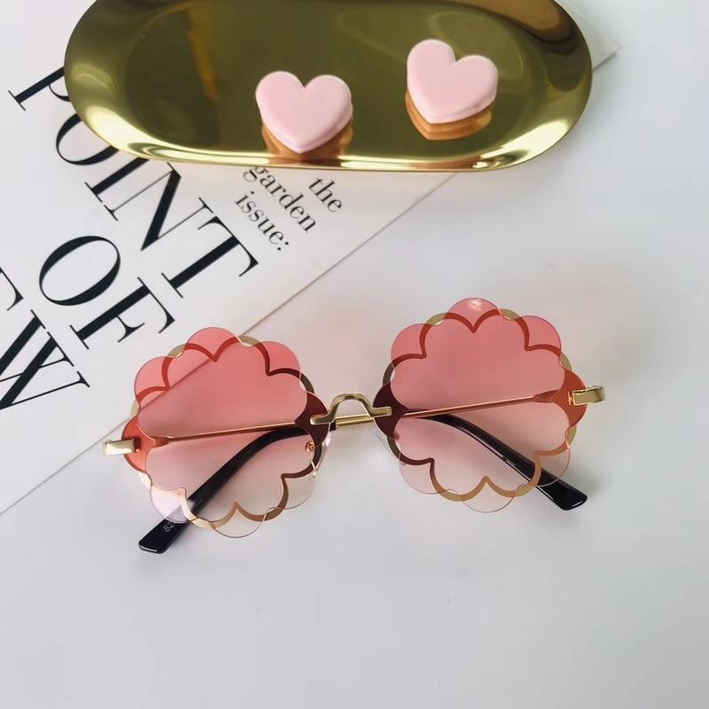 Classic Luxury Metal Flower Sunglasses Boy Girl Brand Cute Cartoon Children UV400 Retro Glasses Eyewear