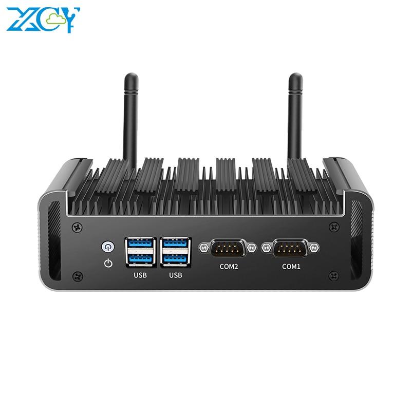 XCY Mini PC Intel Core i3 4010U i5 4200U i7 4500U Windows Linux 2x RS232 Dual LAN HDMI VGA 4xUSB3.0 WiFi DDR3L mSATA SSD Fanless