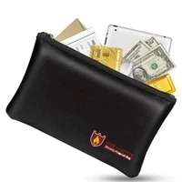 fireproof money safe document bag non itchy silicone coated fire water resistant safe cash bag fireproof safe storage