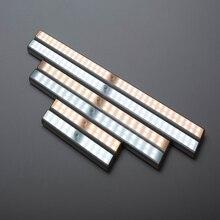 20/30/60LED s LED rechargeable par usb sous armoire lumière armoire placard cuisine PIR capteur de mouvement armoire placard veilleuse