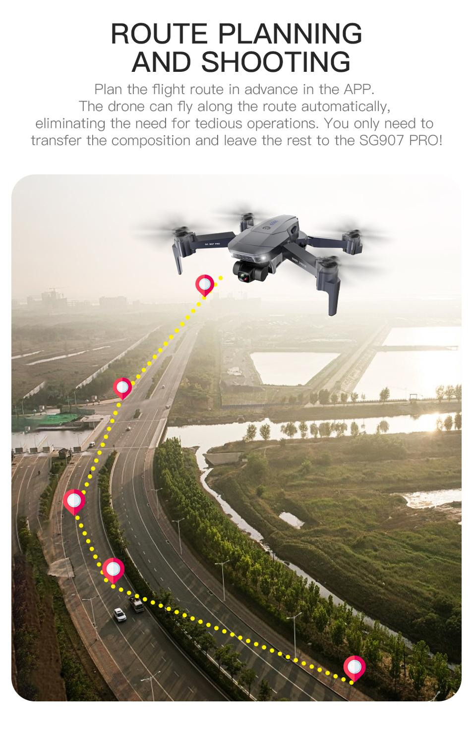 SG907 PRO / SG907 Camera Drone 4k GPS Drones with 2 Axis Gimbal Camera HD 5G Wifi Wide Angle FPV Optical Flow RC Quadcopter dron enlarge