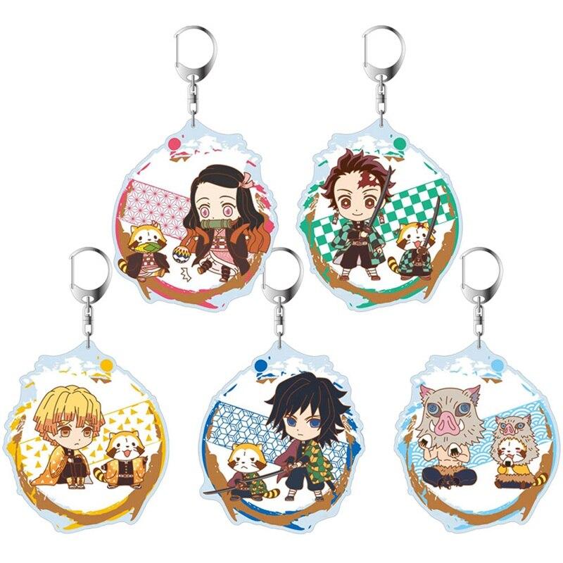 Cazadora de lindo principales de Anime cadena acrílico HOJA DE fantasma Kawaii cadenas clásico principales de Anime Fans joyería regalos