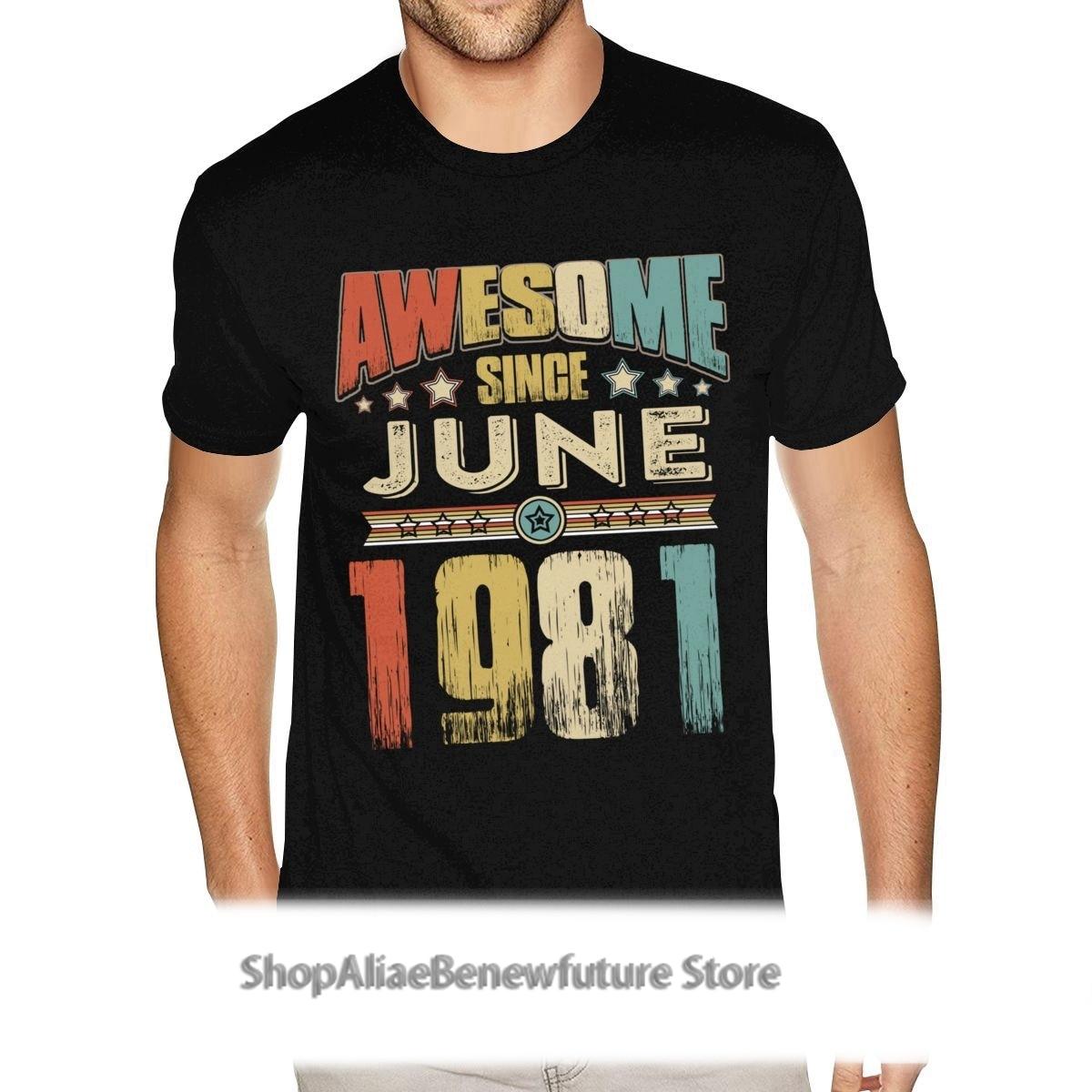 Deporte increíble desde junio de 1981 camisetas de diseño para hombre su...