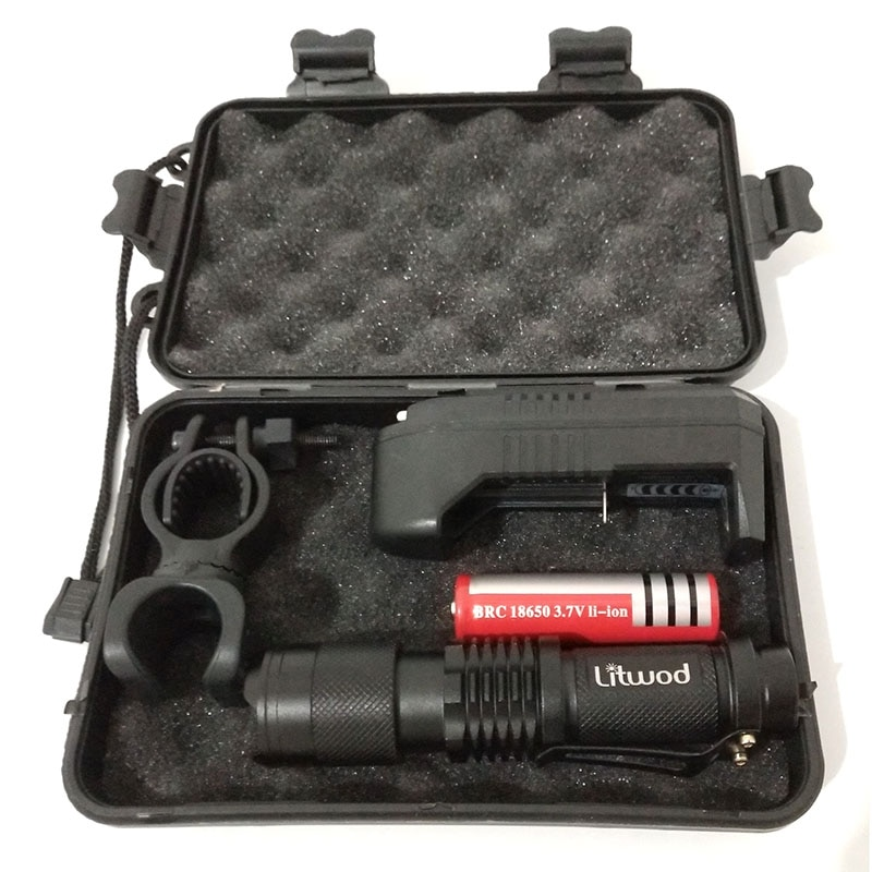 Zoom XM-L2 U3 светодиодный фонарик для кемпинга 5 режимов 1000 люменов 18650 перезаряжаемый аккумулятор алюминиевый водонепроницаемый