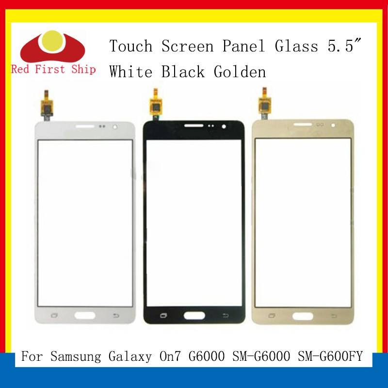 10 unids/lote pantalla táctil para Samsung Galaxy On7 G6000 SM-G6000 pantalla táctil digitalizador Panel Sensor frontal exterior On7 LCD cristal