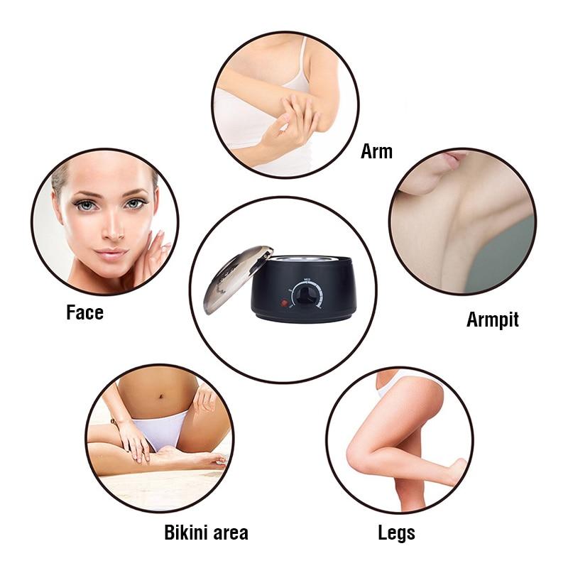 200CC Wax Heater Hair Removal Wax Machine Paraffin Wax Warmer Pot SPA Hand Foot Body Hair Epilator Depilatory Dropshipping enlarge
