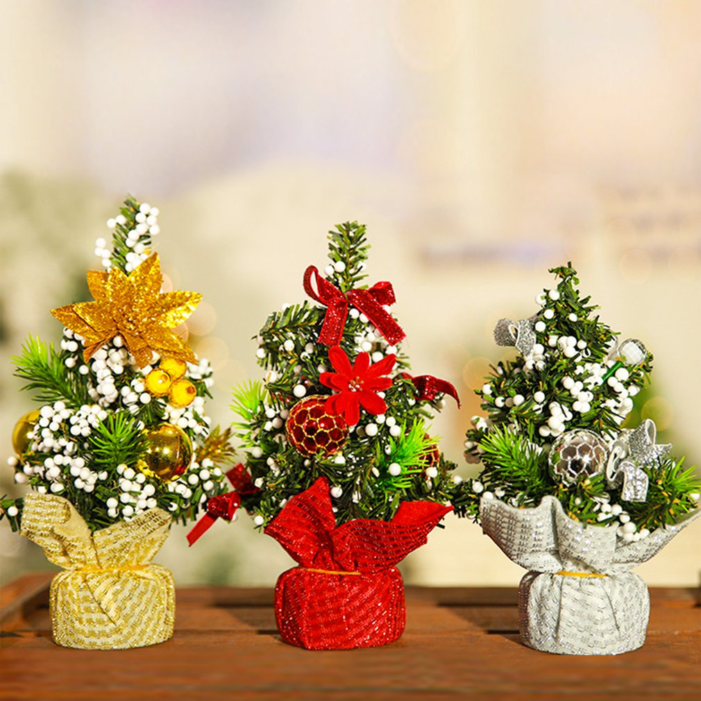 Diy рождественская елка 20 см маленькая сосна мини-елки размещаются на рабочем столе домашний Декор рождественские украшения детские подарки