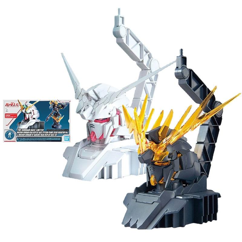 Набор моделей Bandai Gundam, Аниме фигурки, единорог, Гандам, база для демонстрации головы, психорамка, цветная экшн-фигурка без тела