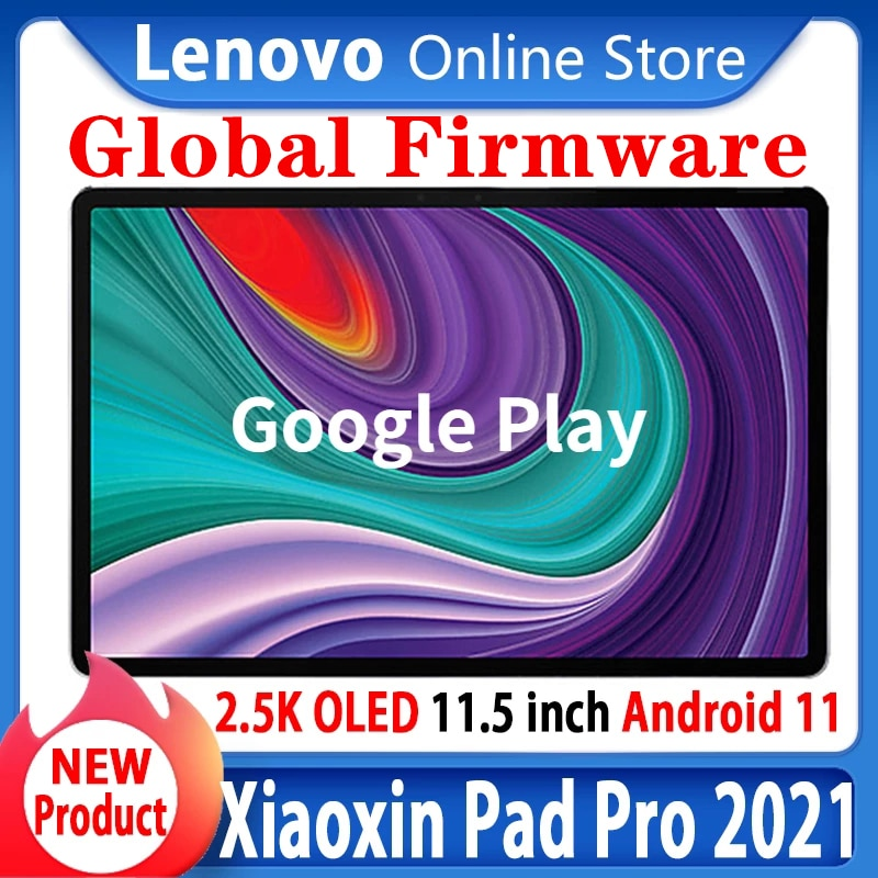 O firmware global lenovo xiaoxin almofada pro 2021 snapdragon 870 octa núcleo 6gb ram 128gb 11.5 Polegada 2.5k oled lenovo tablet android 11
