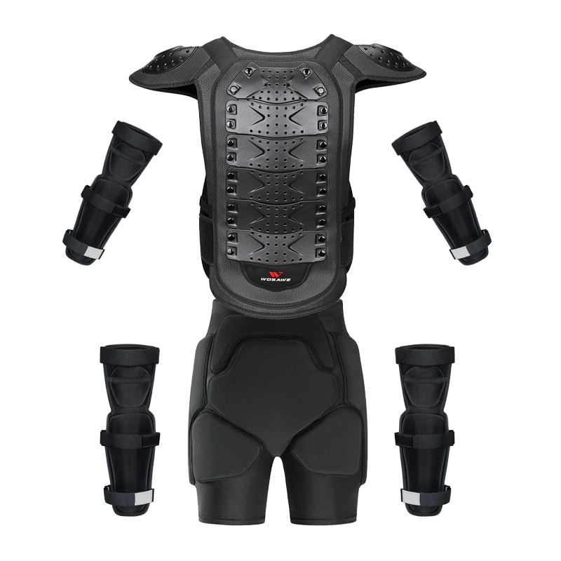 WOSAWE Motorcycle Armor set Short Adult Off Road Motocross Racing protection Gear MTB Clothing Jacket kneepads Elbowpads shorts enlarge