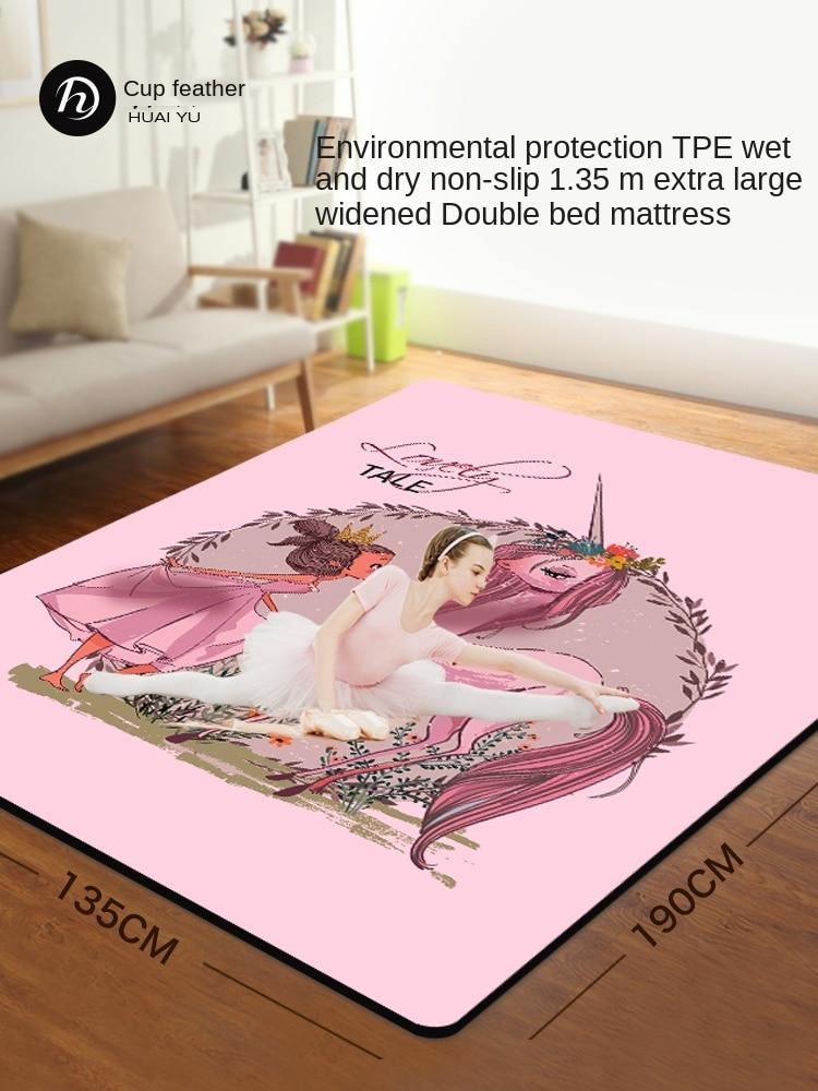 Huaiyu Double Yoga Mat Women's Non-Slip TPE Rubber Children Dance Mat Thickening, Widening and Lengthening Floor Mat Household