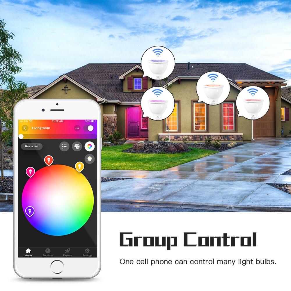 GLEDOPTO 4PCS LED Spot Light Zigbee 5W GU10 RGBCCT Ceiling Light Bulb Dimmable Spotlight Hub APP/Voice Control Home Decor enlarge