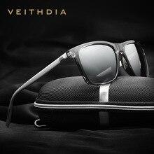 VEITHDIA-lunettes de soleil à verres polarisés   Lunettes de soleil de styliste de marque Vintage pour hommes et femmes, gafas oculos de sol masculino, nouvelle collection 6108