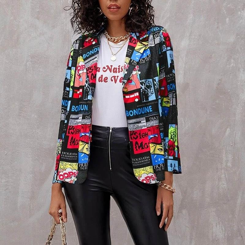 Hbb5b9023247f4d3094b9be466d00e0caQ Fashion Trend Women Lapel Leopard Print Long Sleeves Suit Jacket Elegant Fall Winter Office Lady Cardigan Coat Casual Streetwear