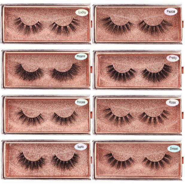 Premium quality thick mink false eyelashes extensions natural look handmade fake lashes super soft & vivid 100pairs/lot DHL Free