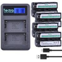 4PCS NP-F550 NP F550 NP-F570 Battery AKKU+LCD Dual Charger for sony NP-F330 NP-F530 NP-F570 NP-F730 NP-F750 CCD-TRV81 CCD-RV100