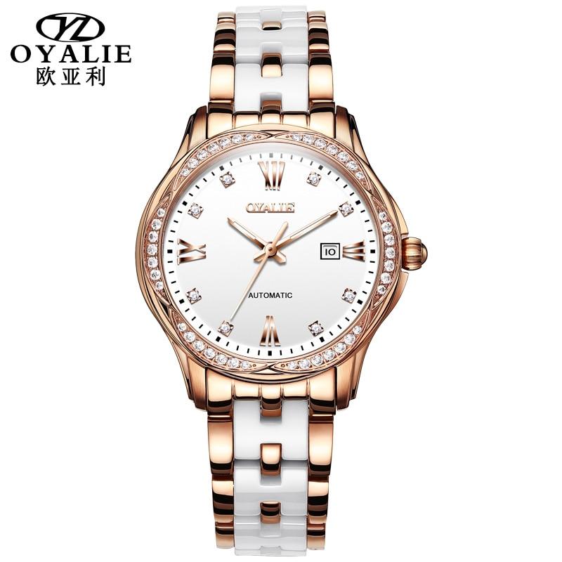 Relógios de Pulso Marca de Luxo Relógio para Pulseiras Relógios Femininos Quartzo Senhoras Femininas Cerâmica Jóias Relógio Digital Casual 2021