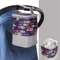Термосумка Детская в горошек, изоляция, бутылка для грудного молока, портативная, для мам, для путешествий, для грудного молока, согревающая ...