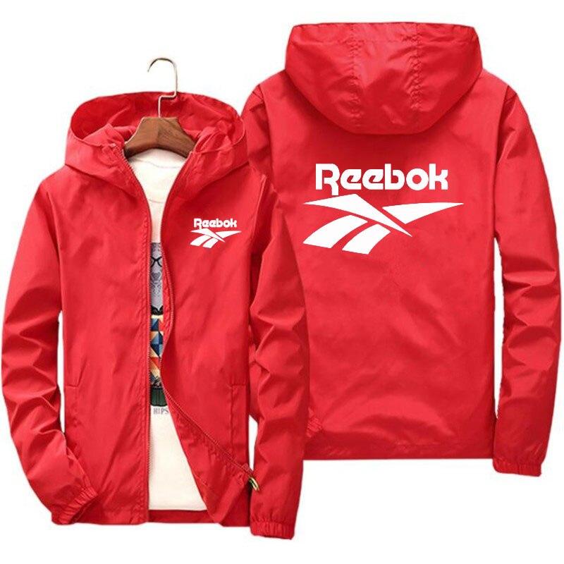 Ветровка мужская с капюшоном, уличная куртка на молнии, ветровка, брендовая одежда, весна-осень 2020