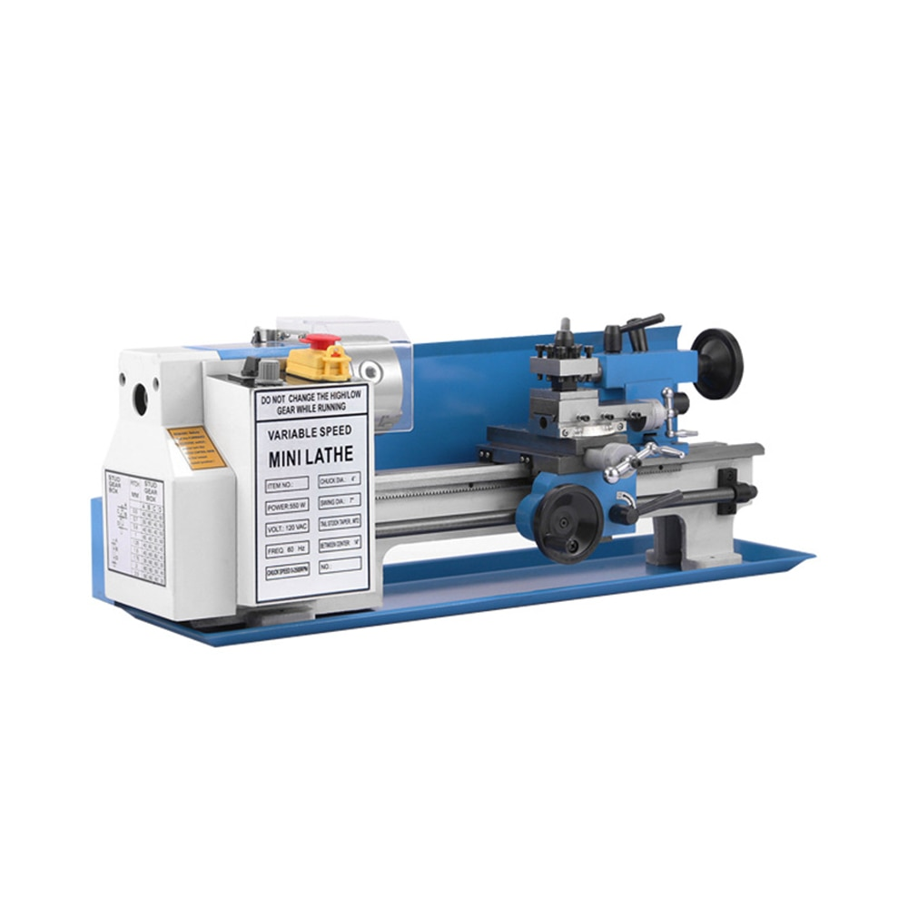 Small Processing Machinery Mini Metal Lathe 0-2250 RPM Variable Speed with Heavy & Study Wide Applications