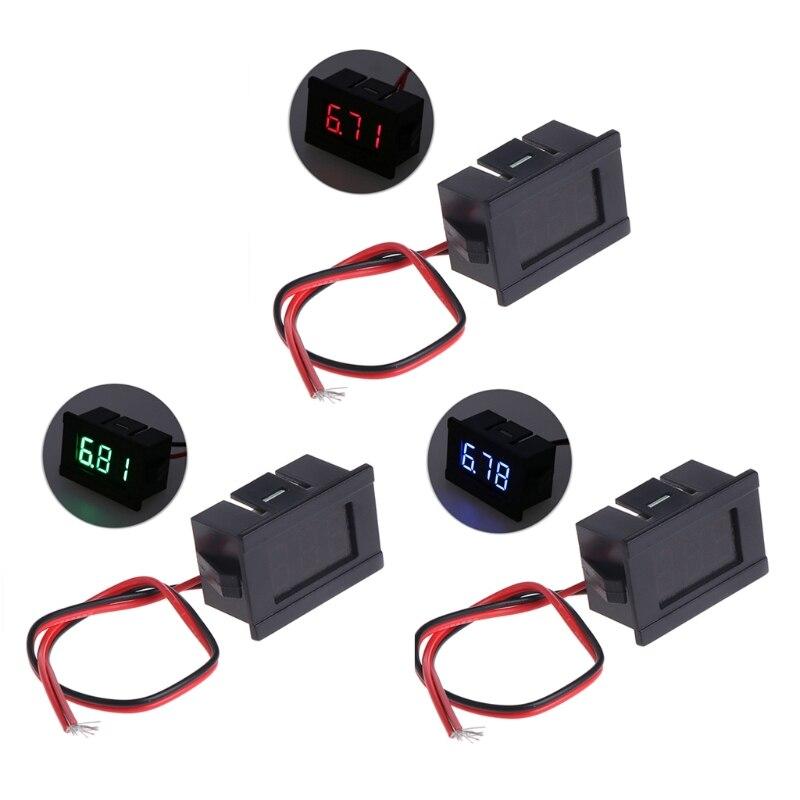 DC 2 cables 4,5-30V Mini pantalla Digital LED voltímetro voltaje Panel medidor