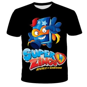 Boys and girls Super Zings clothes new Harajuku style classic Superzings game 3d printing t-shirt t-shirt kids Tee Baby clothing