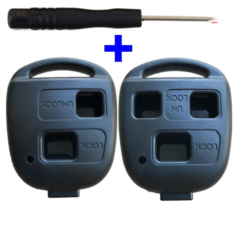 Remote Car Key Shell Case For Toyota Land Cruiser YARIS CAMRY RAV4 Corolla PRADO For Lexus RX300 ES300 LS400 GX460 2 3 Buttons