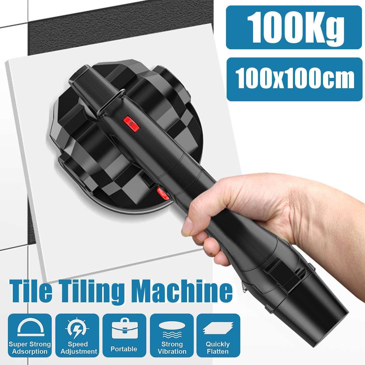 100kg 3000mAh 600W Tile Tile Machine Adjustable Floor Installation Tool Tile Suction Floor Wall +2 Battery + Bag