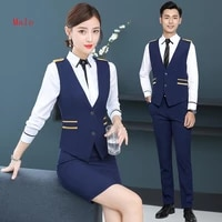 male hotel work sales department work suit jewelry store customer service beautician front desk work clothes vest pants jacket
