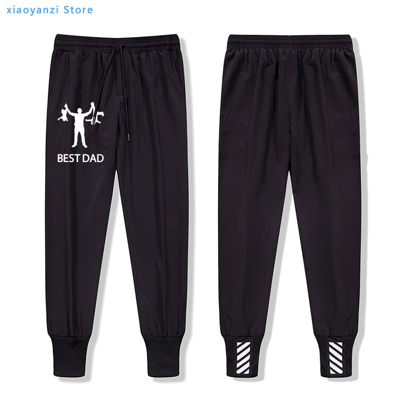 O melhor pai calças masculinas sweatpants design engraçado pai dia dos ginásios calças joggers moda presente