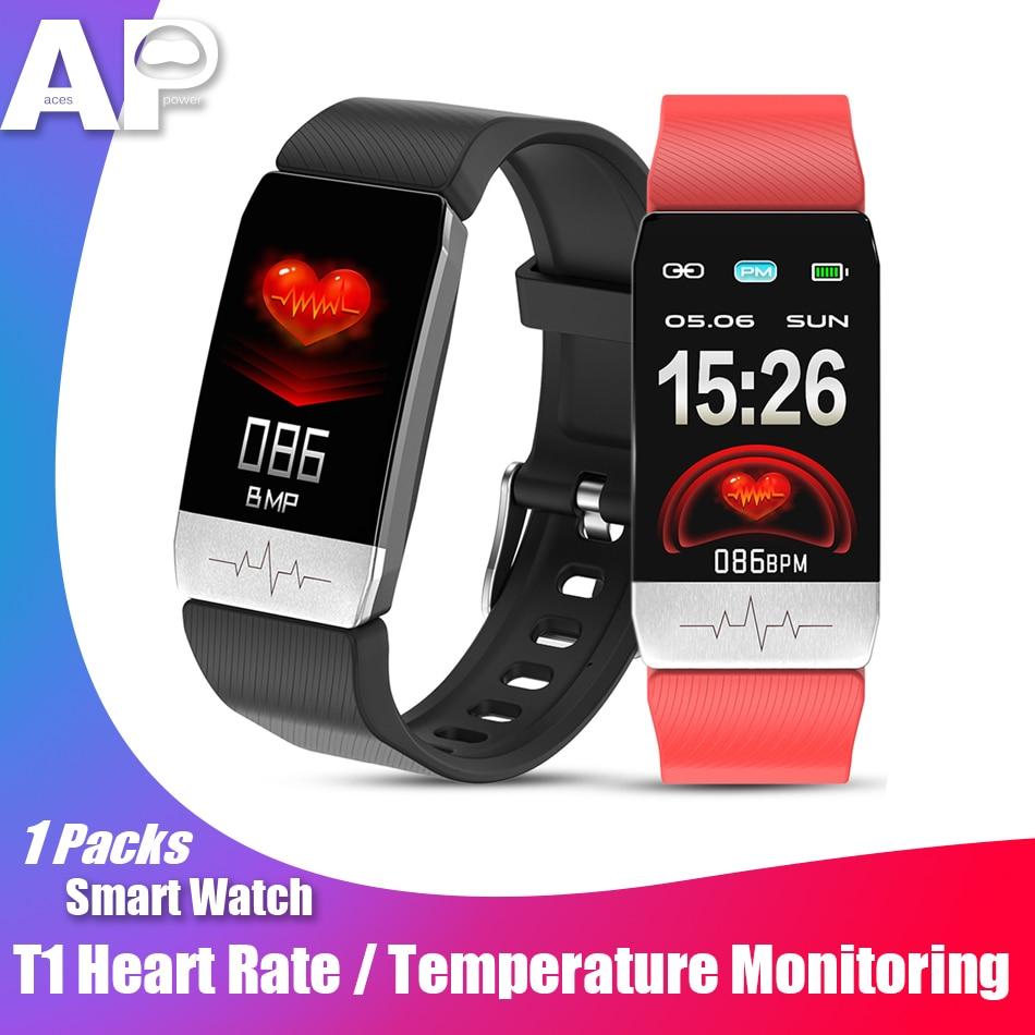 Reloj inteligente deportivo Acespower T1, presión arterial, oxígeno, temperatura corporal, monitorización del ritmo cardíaco, pulseras ECG para hombres y mujeres, bandas de gimnasio