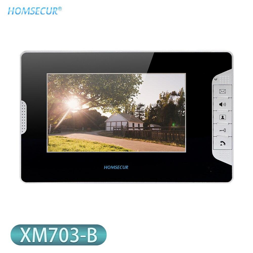HOMSECUR 7 بوصة TFT LCD 800 × 480 فيديو باب الهاتف شاشة داخلية XM703-B للأمن المنزلي