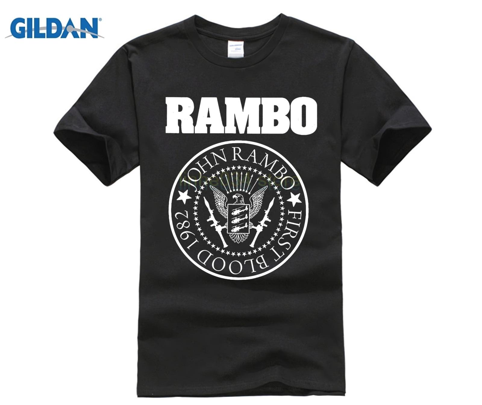 PHIKING 100% Pure cotton O signage flower item tile covering John Rambo Seal T-Shirt