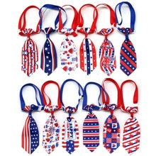 100PCS American Independence Day Dog Accessories Small Dog Neckties Pet Dog Cat Puppy Ties Bowties C