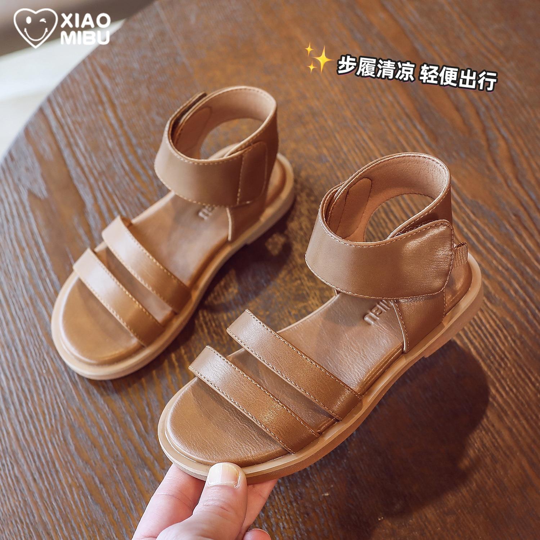 High girls sandals for Roman shoes 2021 children summer new fashion soft bottom anti-slip beach shoes enlarge