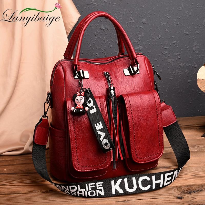 2020 Luxurious Women Backpack High Quality School Bags for Teenage Girls Leather Lady Backpack Female Travel Backpack Mochila