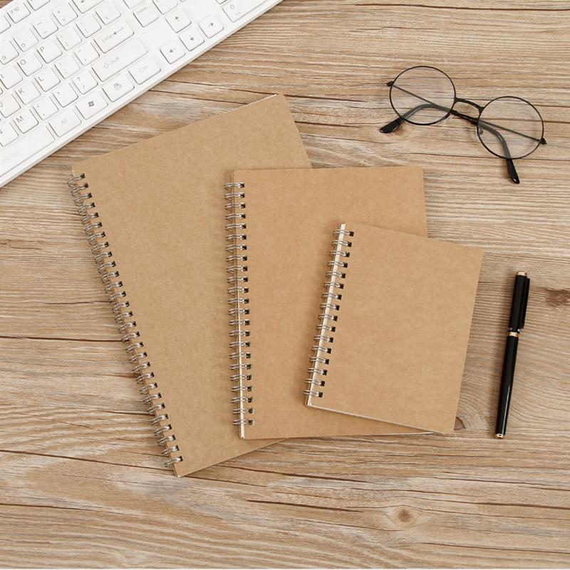 B5 50 folhas/livro vintage papel kraft grau/em branco/linha/página de milho 2021 escola papelaria bobina notebook
