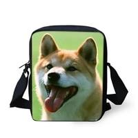 puppy akita dog printing cross body small travel shoulder new bag women girls boys cute canvas messenger bags brand bolsos mujer
