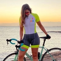 xama women skinsuit bicycle triathlon set summer cycle clothes jumpsuit ropa ciclismo mujer 2020 go pro mtb cycling tri suit