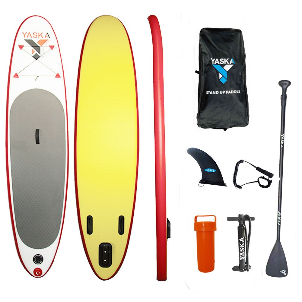 Inflatable Stand Up Paddle Board (4 inches Thick) with Durable SUP Accessories & Carry Bag | Wide Stance, Surf Control, Non-Slip