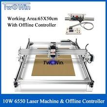 1W 3W 10W grande CNC Laser 6550 Machine bureau bricolage Laser gravure Machine CNC imprimante zone de travail 65cm x 50cm contrôleur hors ligne