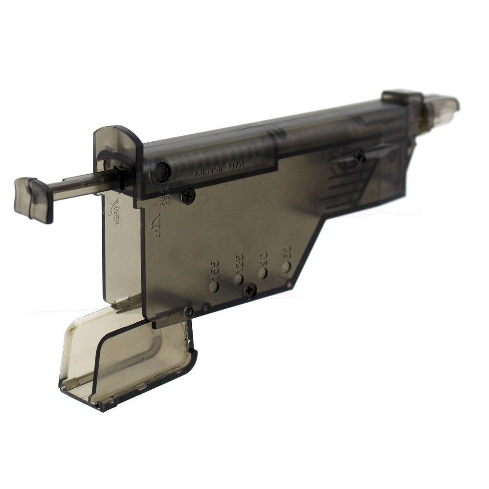 Airsoft plastic155 redondo airsoft bb velocidade carregador plástico para 6mm bbs arma mag